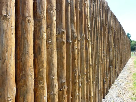 Perspective, Fence, Fort, Wooden, Texture, Pattern