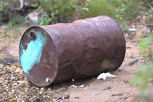 Barrel, Rust, Abandoned