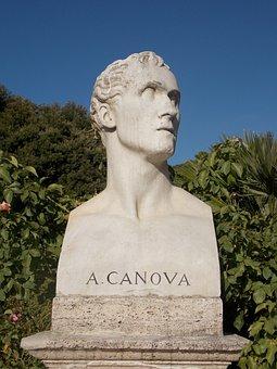 Sculpture, Art, Rome, Face, Ancient, Canova, Historic