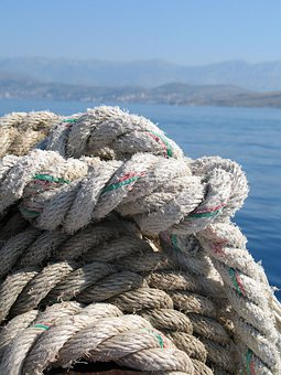 Rope, Knot, Heavy, Tied, Coiled, Detail, Thick, Worn