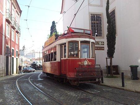 Lisbon, Alfama, Tram