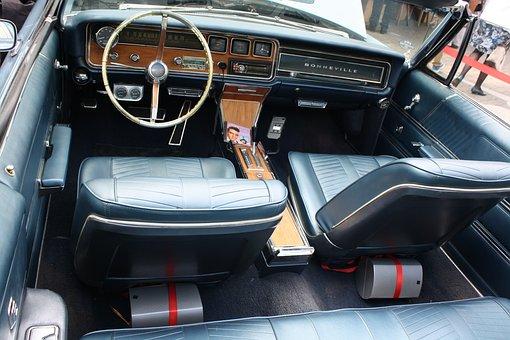 Interior, Oldtimer, Steering Wheel, Auto