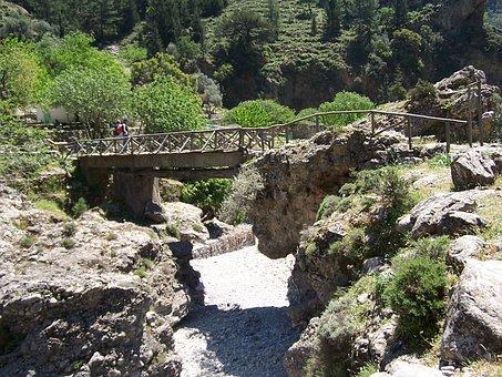 Crete, Bridge, Samaria Gorge