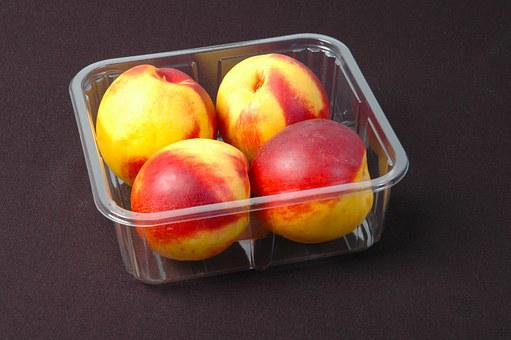 Packing, Fruit, Plastic Box, Peach, Food, Snack