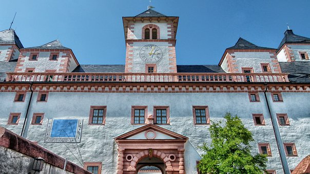 Sachsen, Germany, Augustusburg Castle, Building