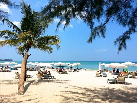 Beach, White Sand, Thailand, Holiday, Khao Lak, Summer