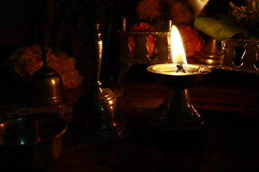 Hinduism, Lamp, Ceremony, Oil Lamp, Indian
