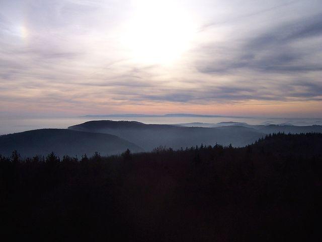 Landscape, France, Nature, Alsace, Vosges North, Mist