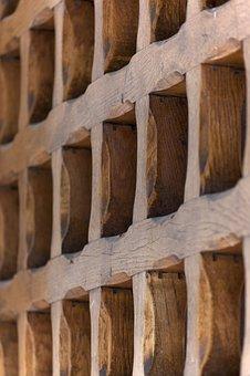 Wood, Grid, Wooden, Vintage, Old, Design, Wall, Surface