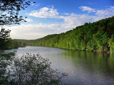 Lake Zoar, Connecticut, Landscape, Scenic, Forest