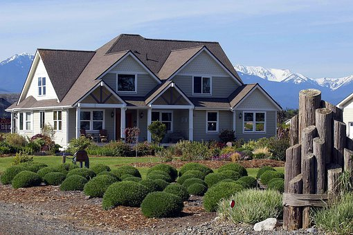 Showhouse, Washington State, Usa, Mountains, Garden