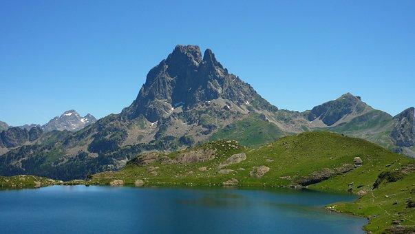 Lake, Mountain, Summit, Ossau, Lake Ayous