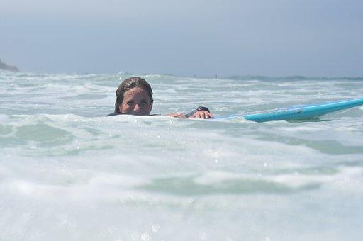 Surfer, Surfing, Ocean, Girl, Sea, Women, Water, Nature