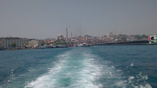 Turkey, Isanbul, Bosphorus, Sea, Water, Skyline