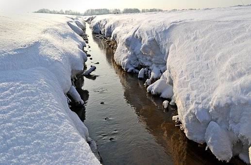 Winter, Snow, Time Of Year, River, White, Ice