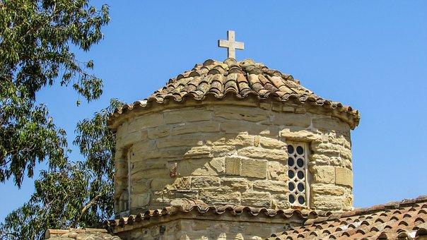 Cyprus, Alaminos, Church, Dome, Orthodox, Architecture