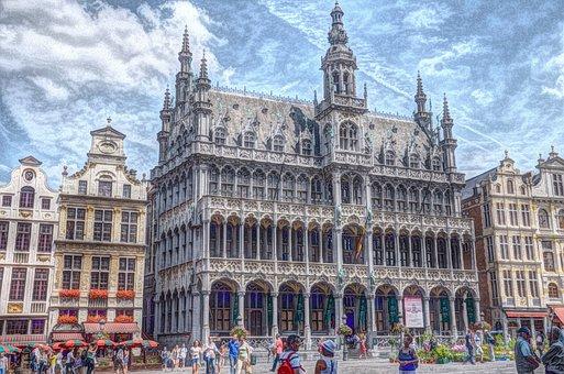Large Market, Brussels, City, Belgium, Historic Center