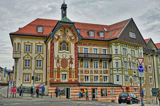 Bad Tolz, Town Hall, Village, River, Cityscape, Town