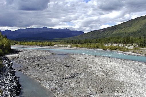 River, Mountains, Landscape, Nature, River Bed