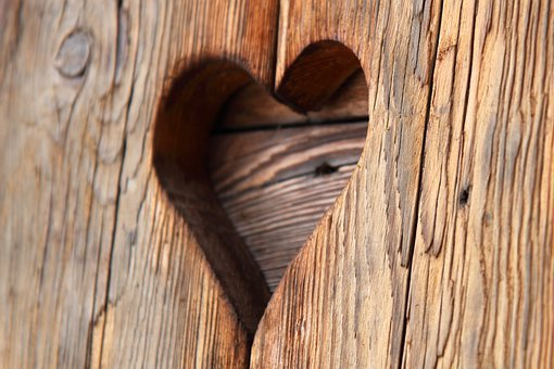Board, Heart, Hole, Love, Old, Plank, Romance, Shape
