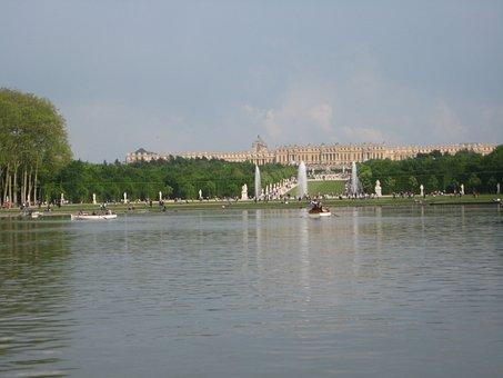 Versailles, Castle, Pièce D'eau, Park, Garden