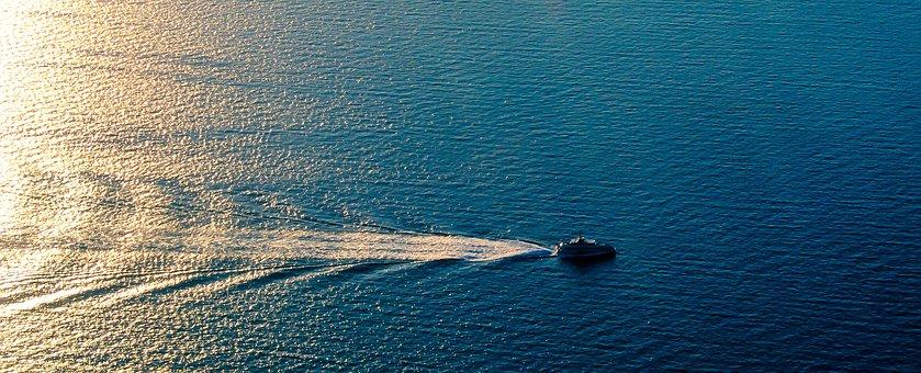Sea, Ship, Aerial View, Spain, Mallorca, Palma