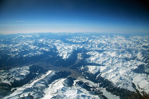 Pyrenees, Mountains, Snow, Zenith, Plane, Landscape