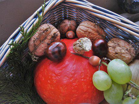 Autumn Basket, Autumn Fruits, Autumn, Herbstdeko