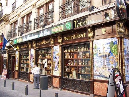 Madrid, Bar, Beer, Cane, Tapas, Bottles, Top, Ration