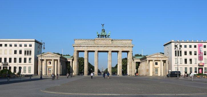 Berlin, Brandenburg Gate, Panorama, Capital, Germany