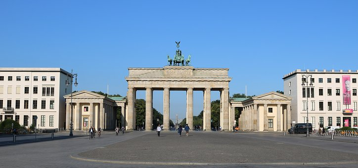 Berlin, Brandenburg Gate, Panorama, Capital, Germany