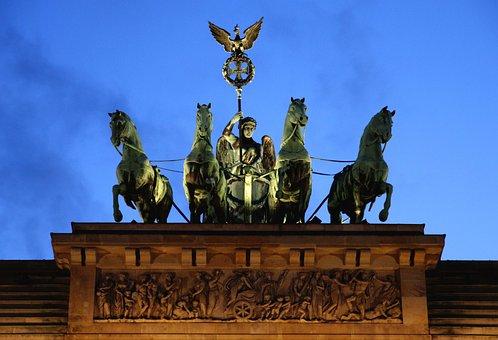 Quadriga, Brandenburg Gate, Berlin, Landmark