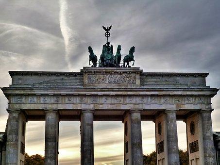 Brandenburg Gate, Berlin, Landmark, Columnar, Quadriga