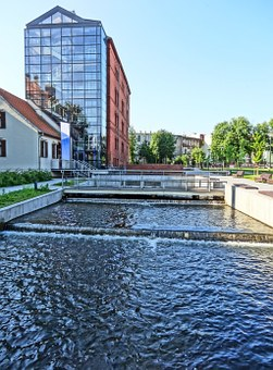 Bydgoszcz, Mill Island, Building, Canal, River, Water