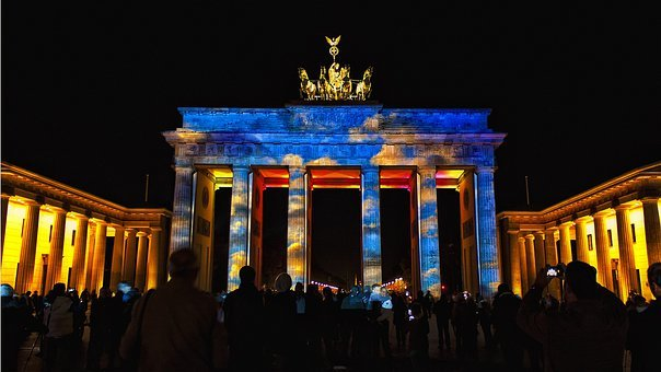 Festival, Brandenburg Gate, Berlin, Germany, City