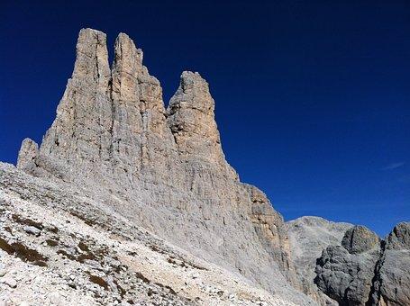 Mountain, Blue, Sky, Landscape, Rock, Climbing