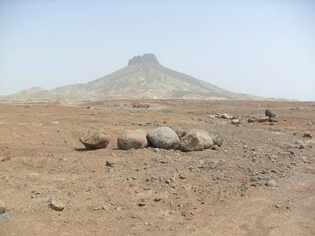 Stones, Mountain, Rock, Boa Vista, Desert, Cape Verde