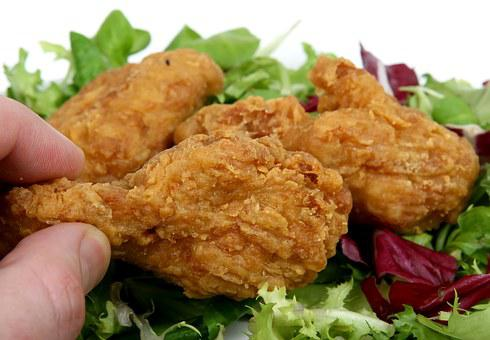 Batter, Breast, Chicken, Colorful, Cooked, Deep, Diet