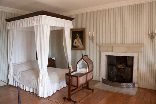 Bedroom, Home, Bed, Georgian, Marriage Bed