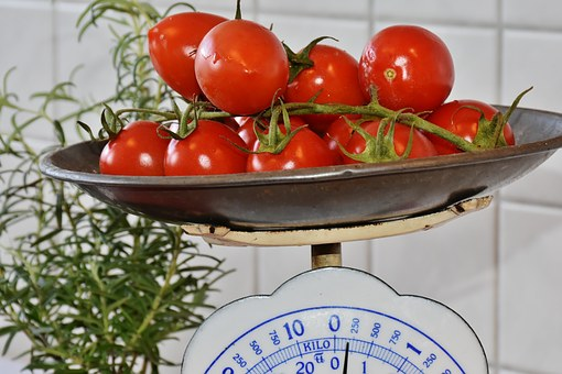 Horizontal, Control, Weight, Tomato, Red, Healthy