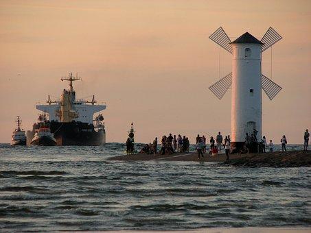świnoujście, Windmill, I Got Mills, Ship
