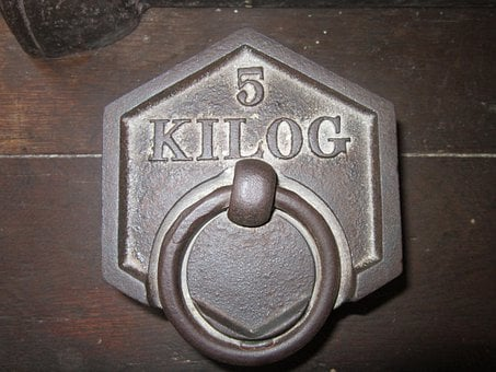 Weight, Kilo, Kilogram, Metal, Five Kilo, 5 Kg, Measure