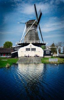 Windmill, Mill, Historic, Vintage, Europe, Energy