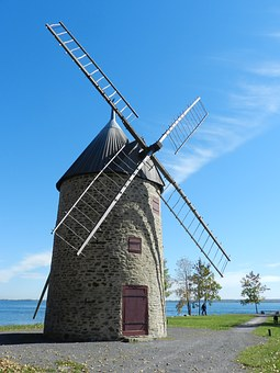 Old, Mill, Windmill, Water, Sky, Antique, Structure