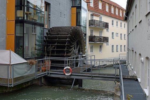 Waterwheel, Bach, Waters, Mühlbach, Mill Wheel