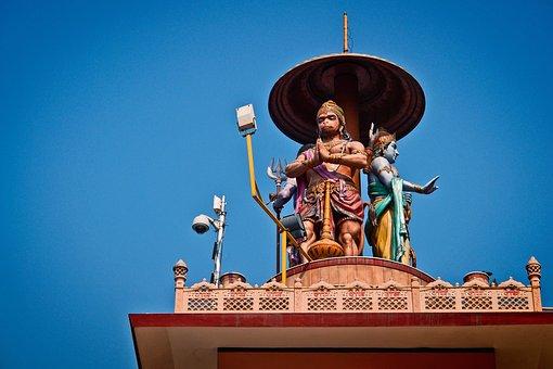 Hanuman, Monkey, God, Hinduism, Religion, Sculpture