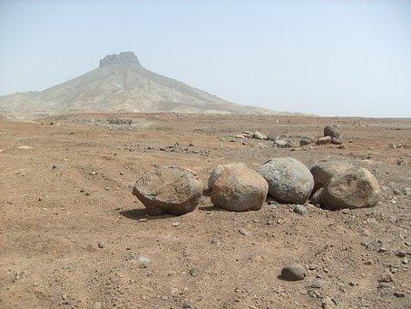 Stones, Rocks, Mountain, Boa Vista, Desert, Cape Verde