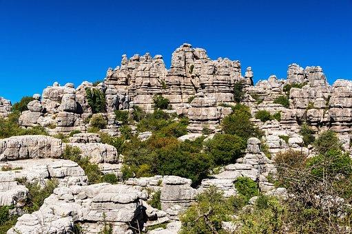 Spain, Landscape, Sky, Clouds, Mountains, Rocks, Rocky