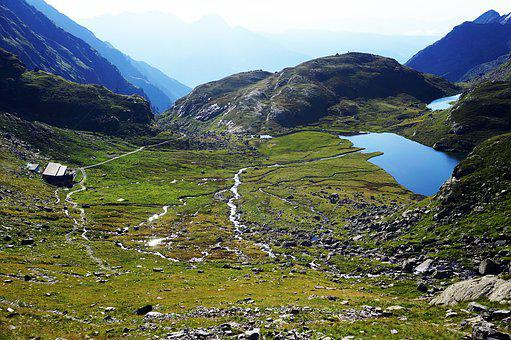 Mountain, Lake, Mountains, Nature, Sky, Landscape