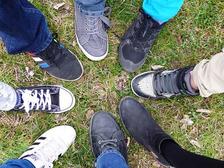 Noga, Legs, The Rate Of, Feet, Shoes, Group, People